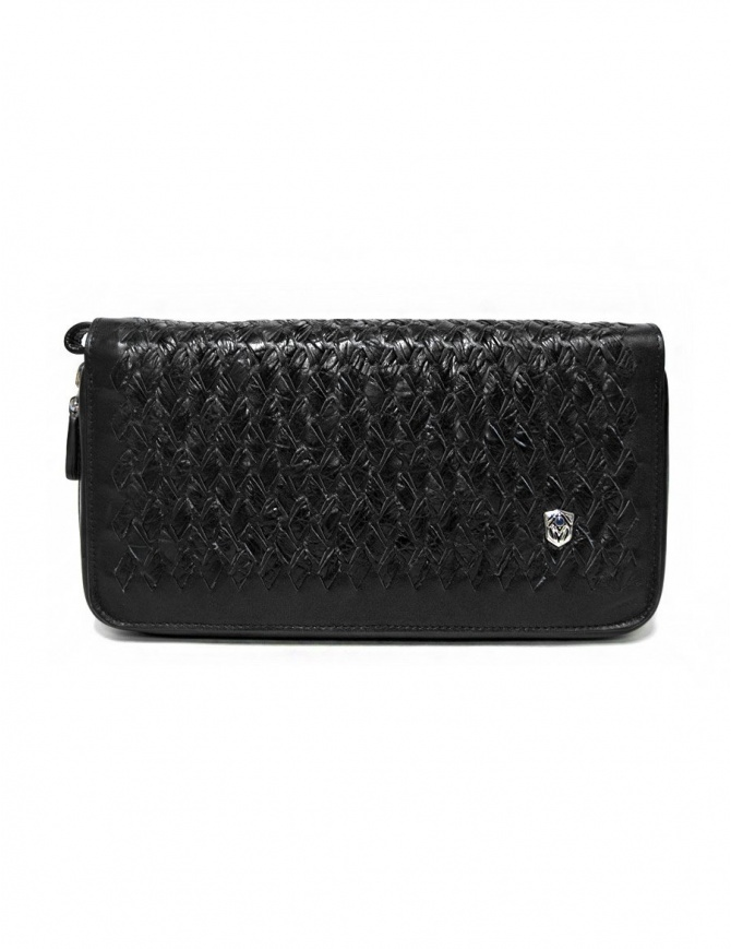 Tardini woven alligator leather black handbag A6T139-31-01BI-BORSE