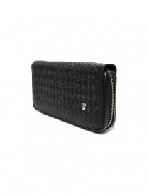 Tardini woven alligator leather black handbag