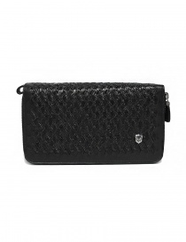 Bags online: Tardini woven alligator leather black documents case