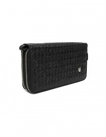 Tardini woven alligator leather black documents case