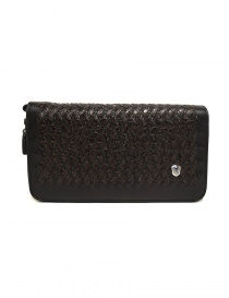 Bags online: Tardini woven alligator leather brown black handbag
