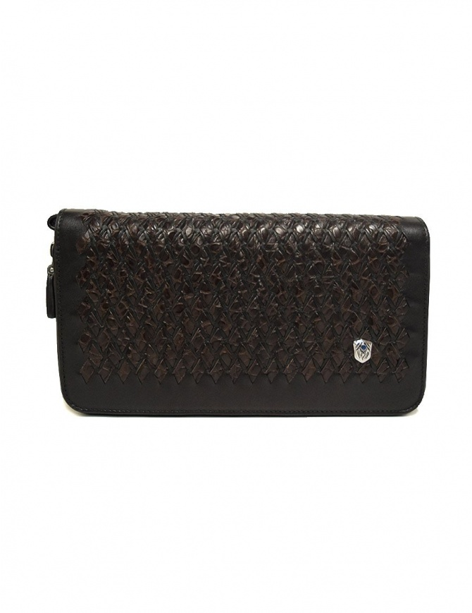 Tardini woven alligator leather brown black handbag A6T139-31-02BI-BORSE bags online shopping