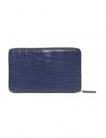 Tardini delavé blue satin alligator leather travel wallet price