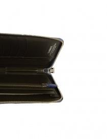 Tardini delavé blue satin alligator leather travel wallet wallets buy online