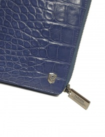 Tardini delavé blue satin alligator leather travel wallet wallets price