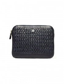 Bags online: Tardini woven alligator leather blue flag underarm bag