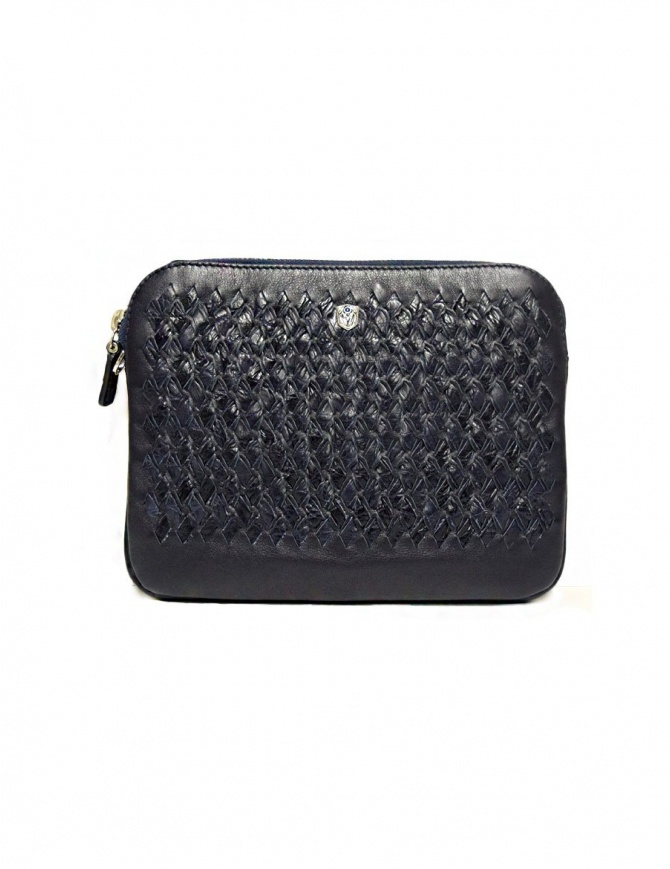 Tardini woven alligator leather blue flag underarm bag A6T261-31-06FL-SOTTO bags online shopping