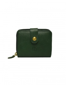 Wallets online: Il Bisonte green leather wallet