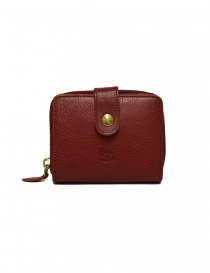 Il Bisonte red leather wallet online