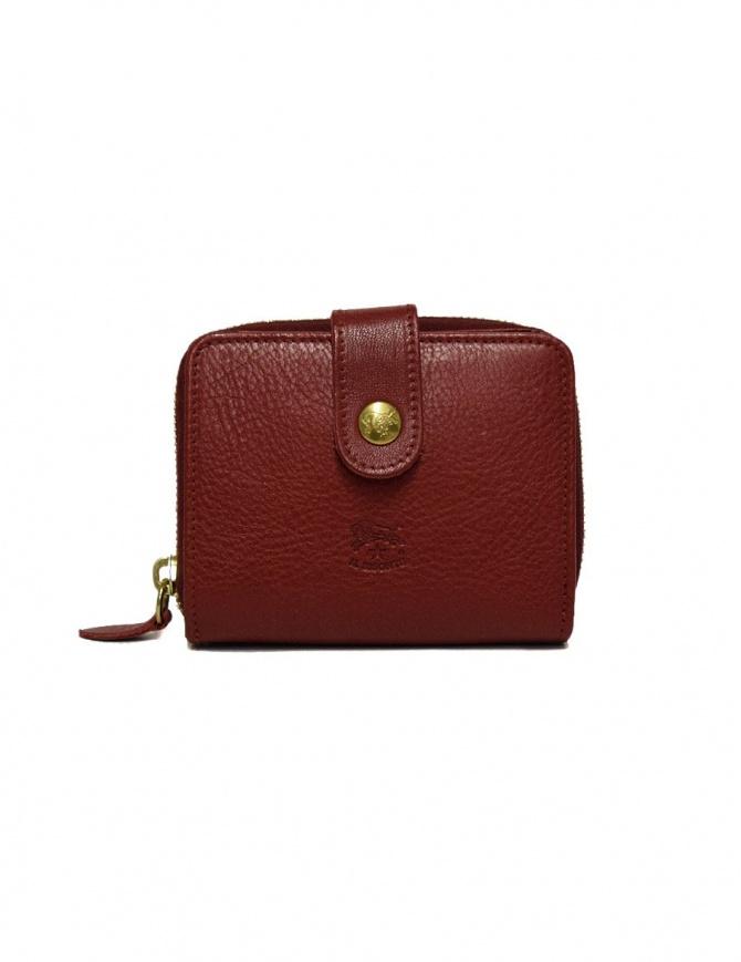 Portafoglio in pelle Il Bisonte colore rosso C0960-P245-ROSSO portafogli online shopping
