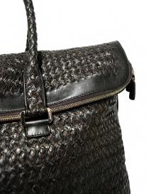 Borsone Tardini in pelle di alligatore intrecciata colore marrone nero borse acquista online