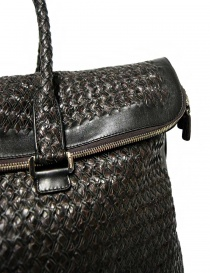 Tardini woven alligator leather brown black large bag bags buy online
