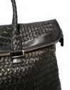 Borsone Tardini in pelle di alligatore intrecciata colore marrone nero A6T260-31-SACCA-MARR acquista online