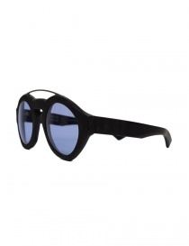 Paul Easterlin Woody black glasses with blue lenses buy online