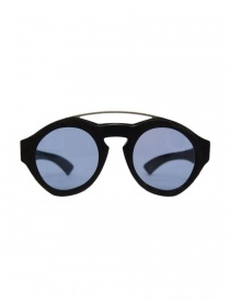 Glasses online: Paul Easterlin Woody black glasses with blue lenses