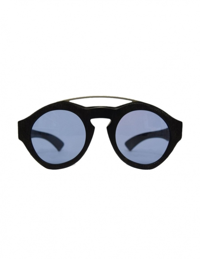 Paul Easterlin Woody black glasses with blue lenses WOODY SCRATCHY BLU LENSE glasses online shopping