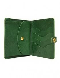 Portafoglio in pelle Il Bisonte colore verde con chiusura a bottone portafogli acquista online