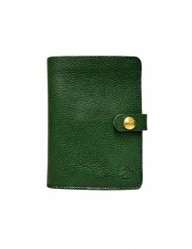 Wallets online: Il Bisonte green leather wallet with button closure