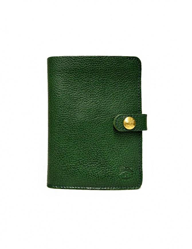 Portafoglio in pelle Il Bisonte colore verde con chiusura a bottone C0343-P-293-VERDE portafogli online shopping