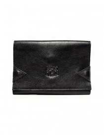 Wallets online: Il Bisonte black leather wallet with elastic band closure