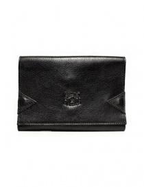 Portafoglio in pelle Il Bisonte colore nero con chiusura a fascia elastica online