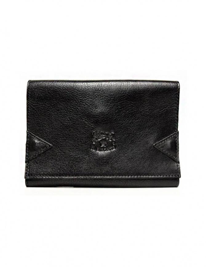 Portafoglio in pelle Il Bisonte colore nero con chiusura a fascia elastica C0237-P-153 portafogli online shopping