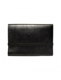 Il Bisonte black leather wallet with elastic band closure price