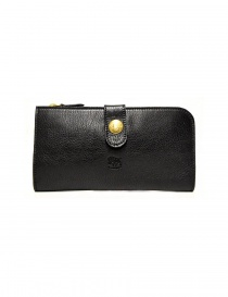 Wallets online: Il Bisonte Alida black leather wallet