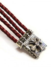 Braccialetto Elfcraft Sprouts Star in argento e pelle