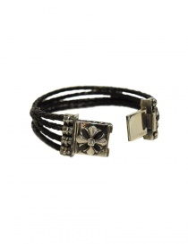 Elfcraft Sprouts Star silver and leather bracelet price