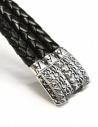 Elfcraft Pyramides silver and leather bracelet shop online jewels