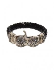 Braccialetto Elf Craft Tongslock in argento e pelle 264-033-13-TONGSLOCK order online