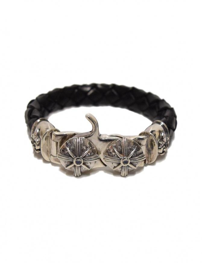 Braccialetto Elf Craft Tongslock in argento e pelle 264-033-13-TONGSLOCK preziosi online shopping