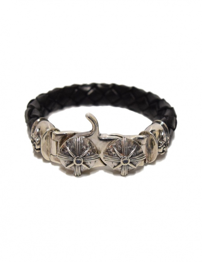 Elf Craft Tongslock silver and leather bracelet 264-033-13-TONGSLOCK jewels online shopping