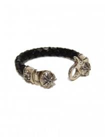 Elf Craft Tongslock silver and leather bracelet price