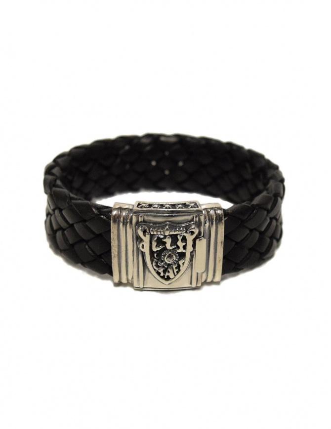 Braccialetto Elf Craft Shieldlock in argento e pelle 225-052-22-LEATHER-BRACEL preziosi online shopping