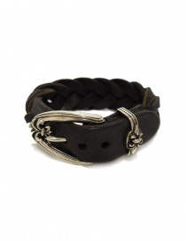 Bracciale Elf Craft Lily buckle in pelle e argento 242-102-20-LEATHER-BRACELET