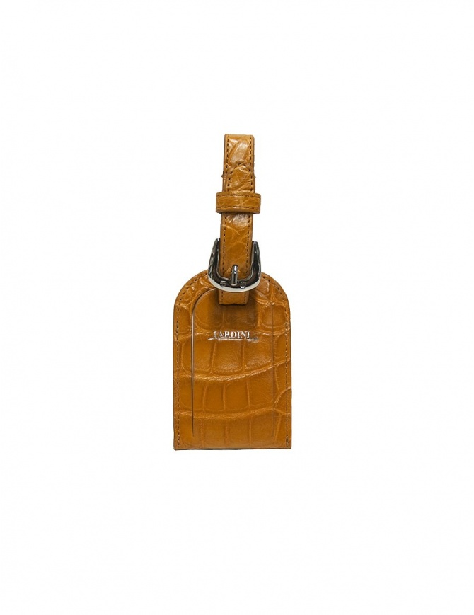 Portanome Tardini ocra in pelle di alligatore satinato A6R071/25-48-PORTANOME-OC portafogli online shopping