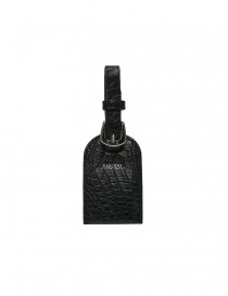 Wallets online: Tardini black alligator leather luggage tag