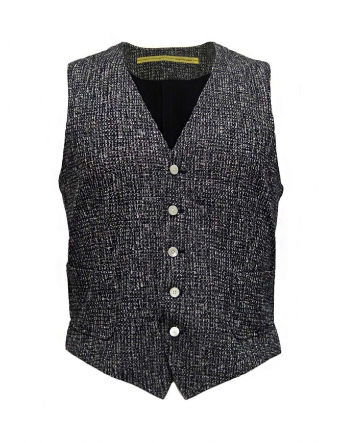 Gilet D by D*Syoukei colore melange D08-125-81L701 gilet uomo online shopping