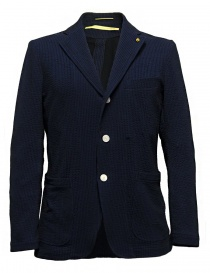Mens suit jackets online: D by D*Syoukei navy and black color jacket