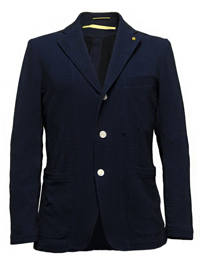 D by D*Syoukei navy and black color jacket D02-125-81L703 mens suit jackets online shopping
