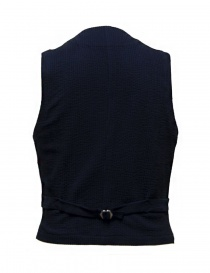 Gilet D by D*Syoukei colore blu e nero D08-125-81LZ03