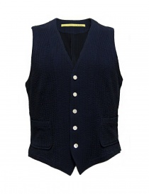 Gilet D by D*Syoukei colore blu e nero D08-125-81LZ03 order online