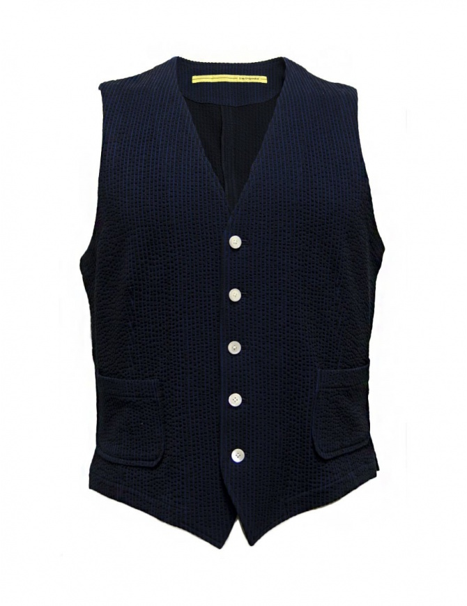 Gilet D by D*Syoukei colore blu e nero D08-125-81LZ03 gilet uomo online shopping
