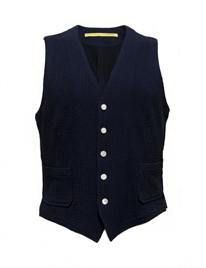Gilet D by D*Syoukei colore blu e nero D08-125-81L703 gilet uomo online shopping