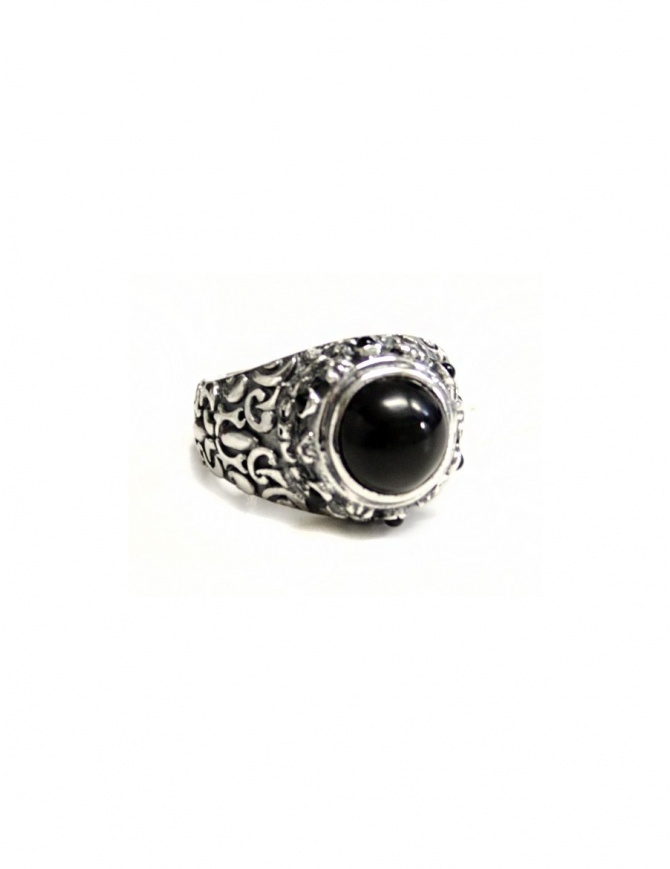 Elf Craft black stone garden ring