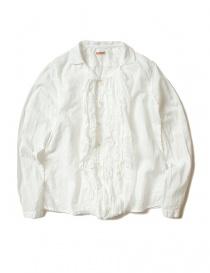 Camicie donna online: Camicia Kapital colore bianco con volant