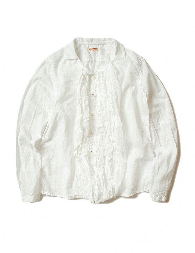 Kapital white volant shirt K1708LS010-WHT-SHIRT womens shirts online shopping