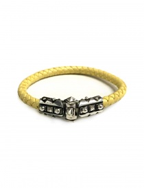 Bracciale Elf Craft Sparks in argento e pelle gialla online